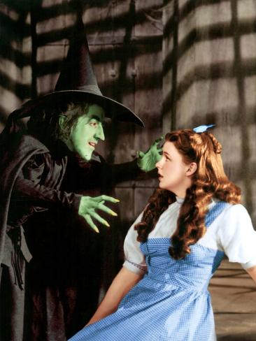 The Wizard of Oz, Margaret Hamilton, Judy Garland, 1939 Photo