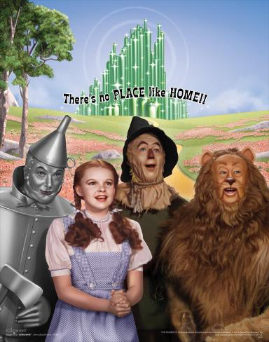 The Wizard of Oz: No Place Like Home Glitter アートプリント