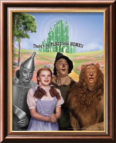 The Wizard of Oz: No Place Like Home Glitter Lamina Framed Art Print