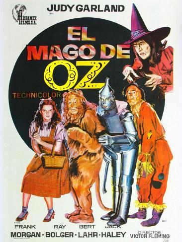 The Wizard of Oz, Spanish Movie Poster, 1939 Impressão artística