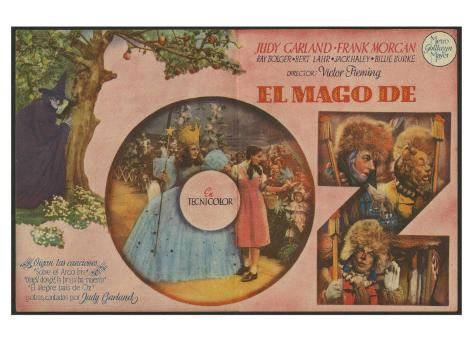 The Wizard of Oz, Spanish Movie Poster, 1939 Stampa artistica