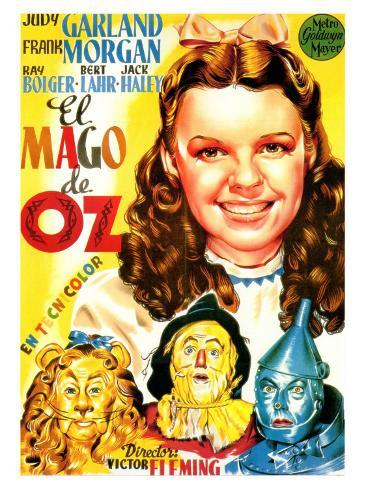 The Wizard of Oz, Spanish Movie Poster, 1939 Art Print