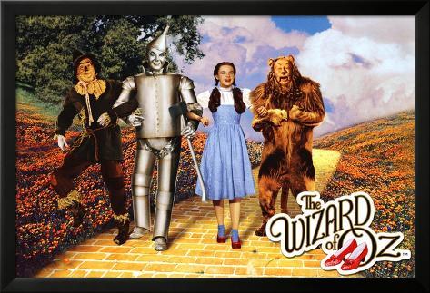 The Wizard of Oz - Yellow Brick Road Lamina Framed Poster