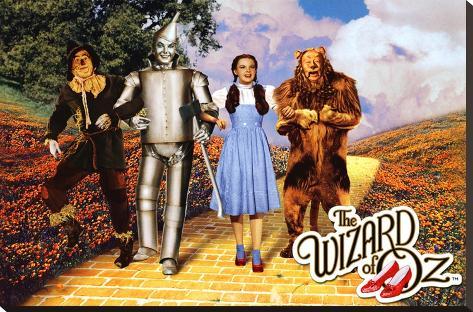 The Wizard of Oz - Yellow Brick Road Impressão em tela esticada
