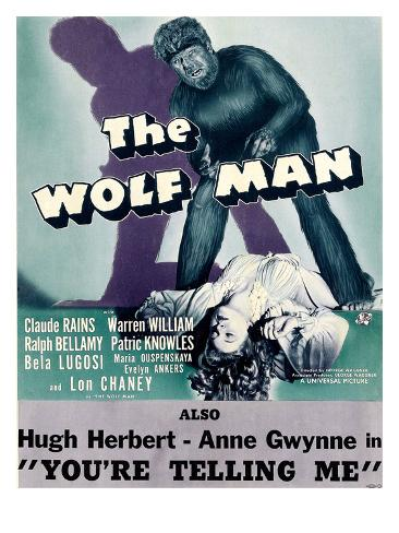 The Wolf Man, Double-Billed With 'You're Telling Me', 1941 Foto