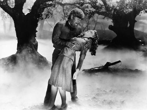 The Wolf Man, Lon Chaney Jr., Evelyn Ankers, 1941 Foto