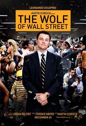 The Wolf of Wall Street Pôster com moldura laminada