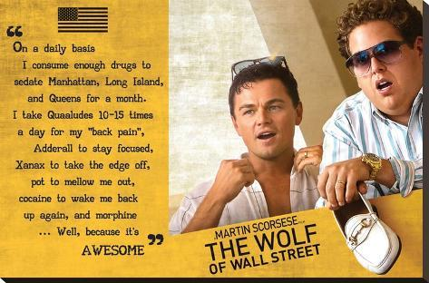 The Wolf Of Wall Street Stretched Canvas Print