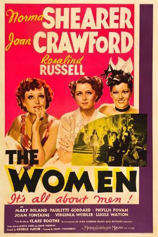 THE WOMEN, from left: Joan Crawford, Norma Shearer, Rosalind Russell, 1939 Lámina