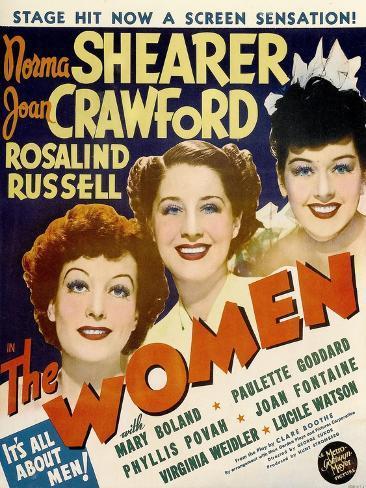 The Women, Joan Crawford, Norma Shearer, Rosalind Russell, 1939 Impressão artística