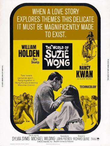 The World of Suzie Wong, from Left: William Holden, Nancy Kwan, 1960 Art Print
