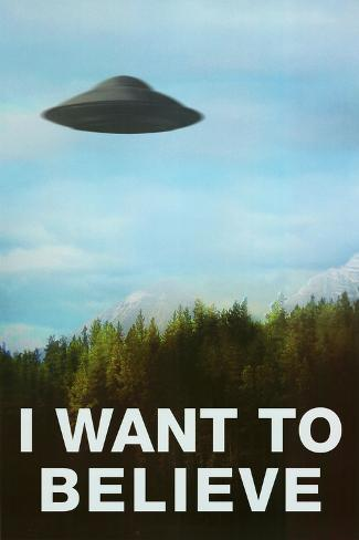 The X-Files I Want To Believe TV Poster Print Poster