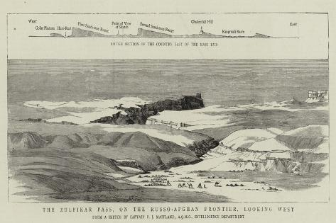 The Zulfikar Pass, on the Russo-Afghan Frontier, Looking West Giclee Print