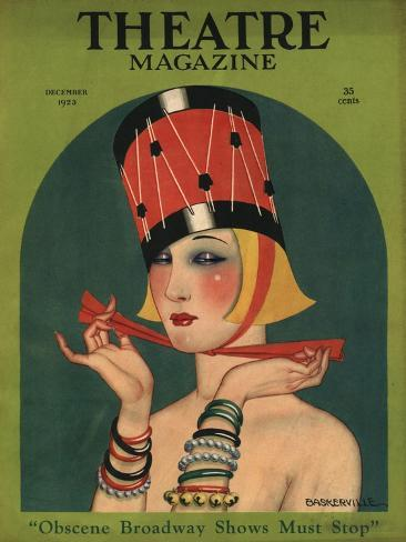 Theatre, Art Deco Magazine, USA, 1923 Giclee Print