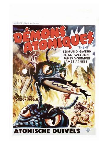 Them!, Belgian Movie Poster, 1954 Taidevedos