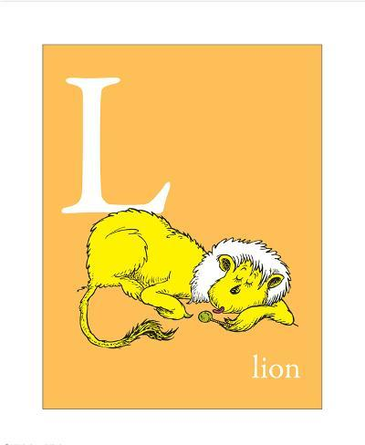 L Is For Lion Orange