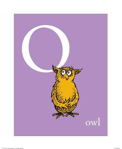 O is for Owl (purple) Art Print