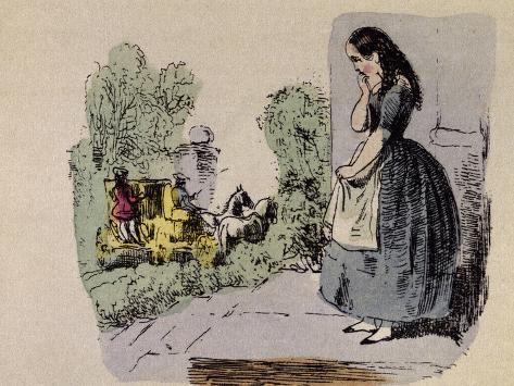 Cinderella's Sisters Depart Giclee Print