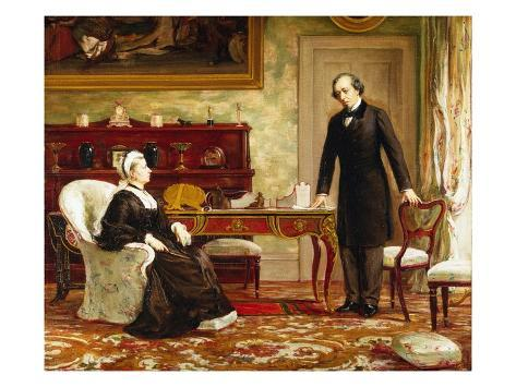 Queen Victoria Interviewing Disraeli at Osborne House Giclee Print