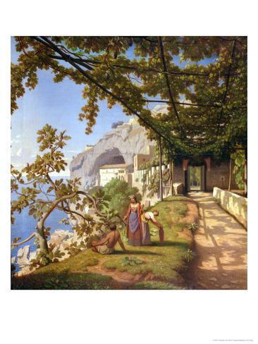 View of Capri Giclee Print