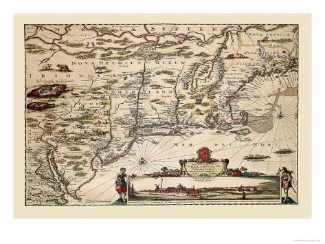 Novi Belgii Novaeque Angliae Art Print