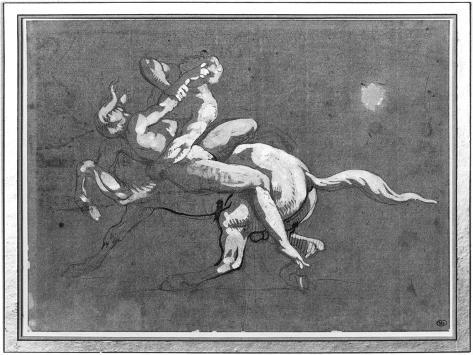 Centaur Kidnapping a Nymph Giclee Print