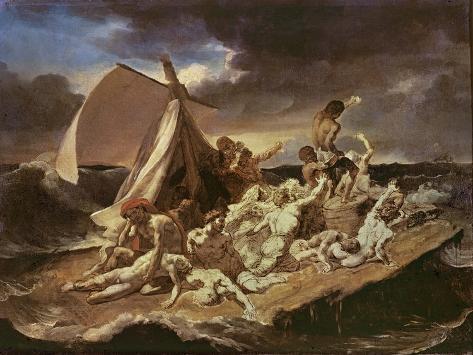 Second Study for the Raft of the Medusa Lámina giclée