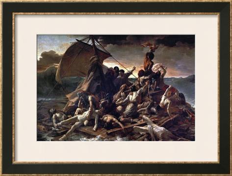 The Raft of the Medusa, 1819 Impressão giclée emoldurada