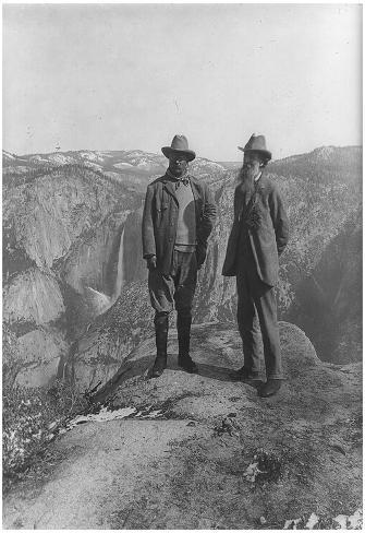 Theodore Roosevelt with John Muir Archival Photo Poster Print Poster