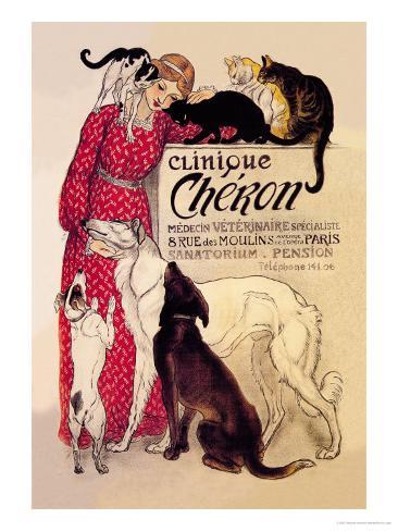 Clinique Cheron, Veterinary Medicine and Hotel Art Print