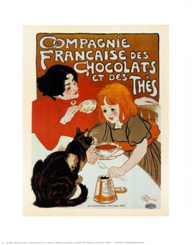 compagnie des chocolats et des thes posters by th ophile alexandre steinlen. Black Bedroom Furniture Sets. Home Design Ideas