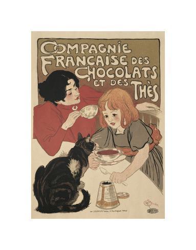 Compagnie Francaise des Chocolats Art Print