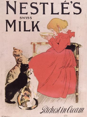 Poster Advertising Nestle's Swiss Milk, Late 19th Century Giclee Print