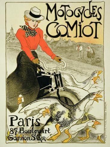 Reproduction of a Poster Advertising Comiot Motorcycles, 1899 Giclee Print