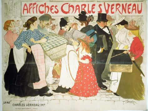 The Street, Poster For the Printer Charles Verneau, 1896 Giclee Print