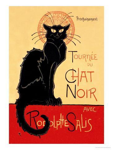 Tournee du Chat Noir Avec Rodolptte Salis Art Print