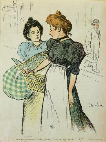 Two Washerwomen, 1898 Giclee Print