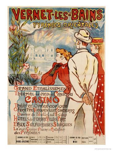 Vernet-Les-Bains, 1896 Lámina giclée
