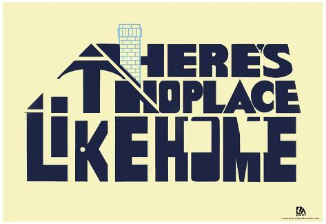 There's No Place Like Home Text Poster ポスター