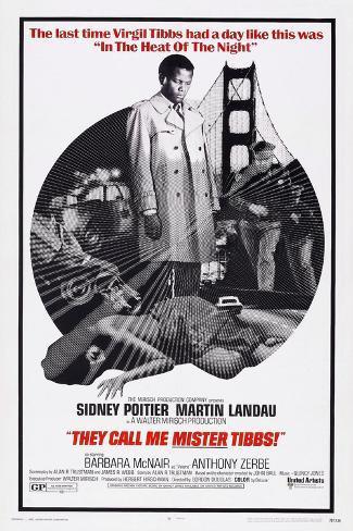 They Call Me Mister Tibbs!, Sidney Poitier, 1970 Konstprint