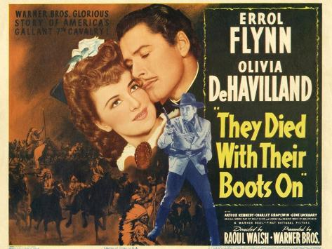 They Died with Their Boots On, 1941 Art Print