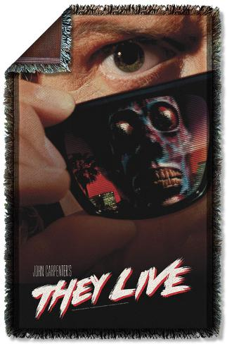 They Live - Poster Woven Throw Throw Blanket