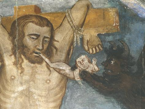 Thief and Demon Taking His Soul, Detail Form the Crucifixion Giclee Print