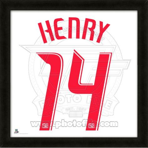 Thierry Henry, Red Bulls  representation of the player's jersey Framed Memorabilia