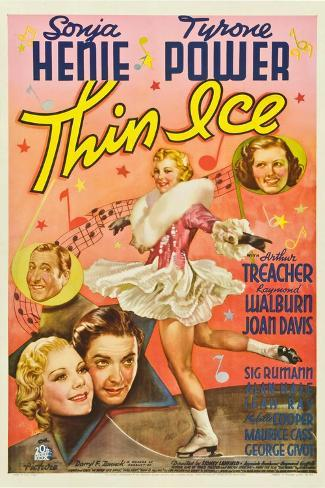 Thin Ice, Sonja Henie, Tyrone Power, Arthur Treacher, Joan Davis, 1937 Lámina