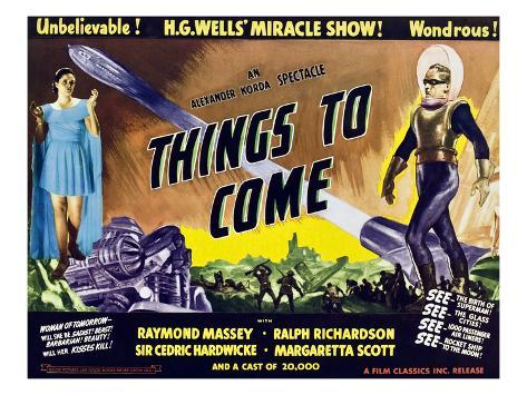 Things to Come, From Left: Margaretta Scott, Raymond Massey, 1936 Foto