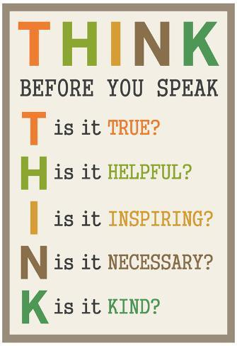 Image result for image think before you speak""