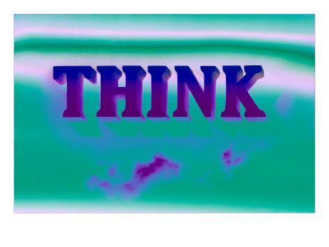 Think, Purple and Green Art Print