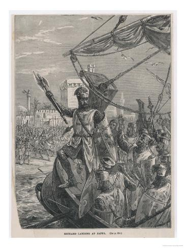 Third Crusade, Richard I after Taking Acre Advances to Jaffa Giclee Print