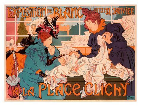 Exposition de Blanc Place Giclee Print